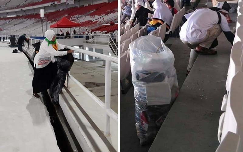 GBK bersih usai kampanye akbar Prabowo-Sandi