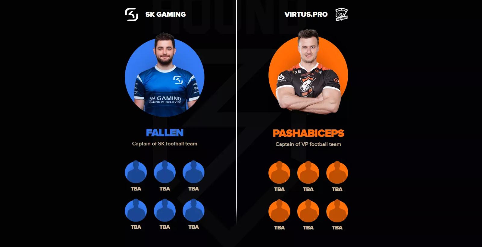 Pasha oraz FalleN skład na mecz