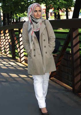 Jaket Wanita Panjang abu