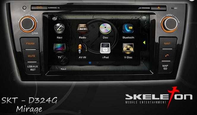 Skeleton Head Unit Double Din SKT D324 G Mitsubishi Mirage