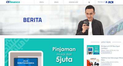 halaman website cs finance bca