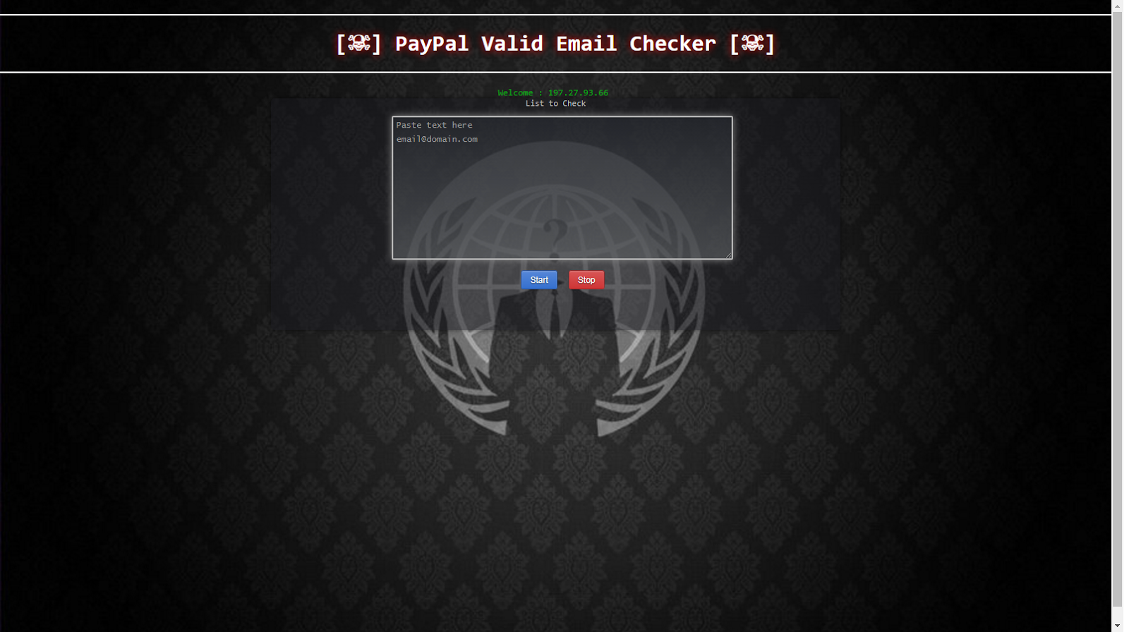 paypal valid email checker 2017 - Hack Tools
