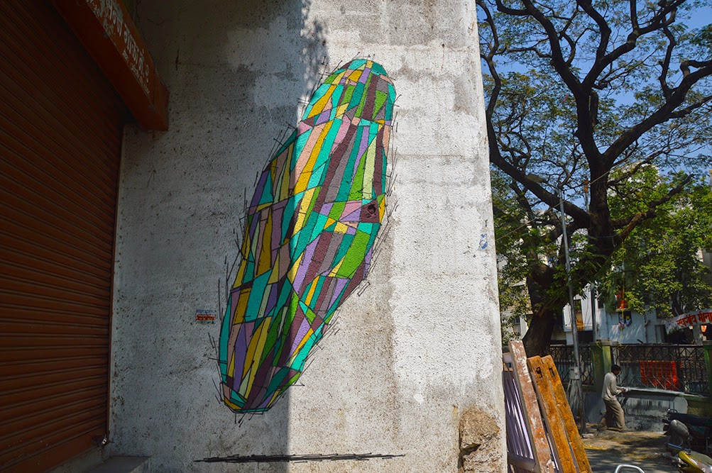 Pune Street Art Project Mural Kasba Peth Kryptonite Note