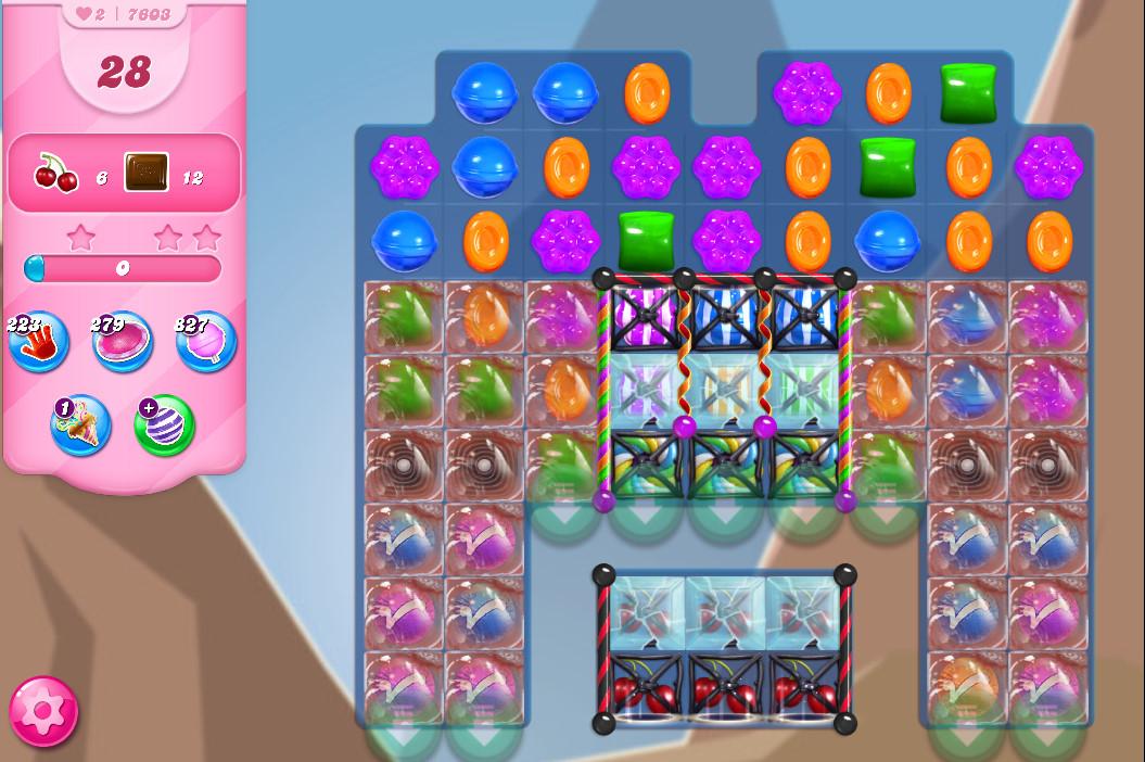 Candy Crush Saga level 7603