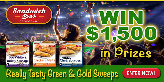 Really Tasty Green & Gold Sweepstakes