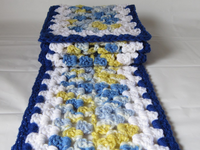 free crochet pattern, granny rectangle, scrapbuster