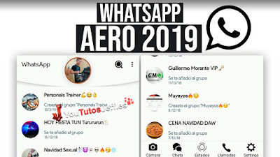 Descargar WhatsApp Aero 7.100 ANTI BANEO ULTIMA VERSION 2019