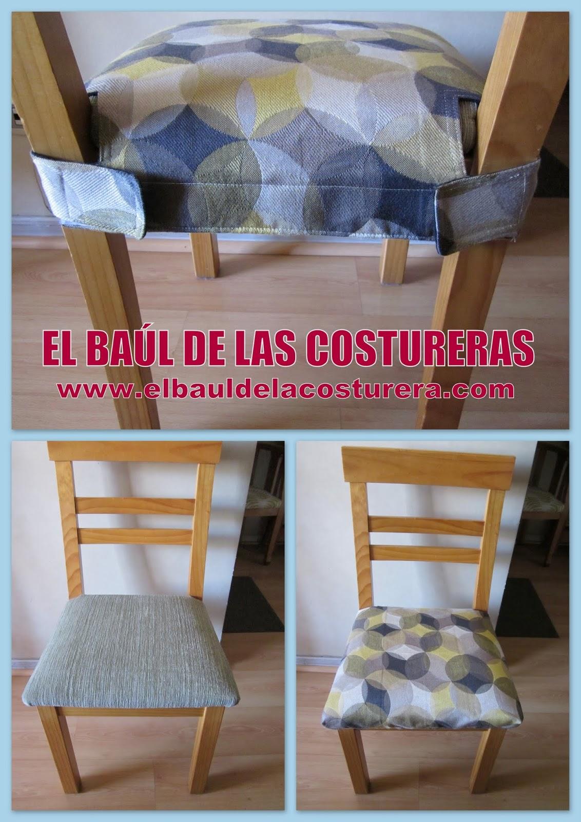 Forro protector para las sillas del comedor - Hacer cojines para sillas ...
