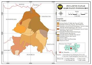 Peta Jenis Tanah Kabupaten Wonosobo