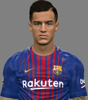 PES 2017 MegaFacepack International ( Philppe Coutinho ) by Jonathan Facemaker