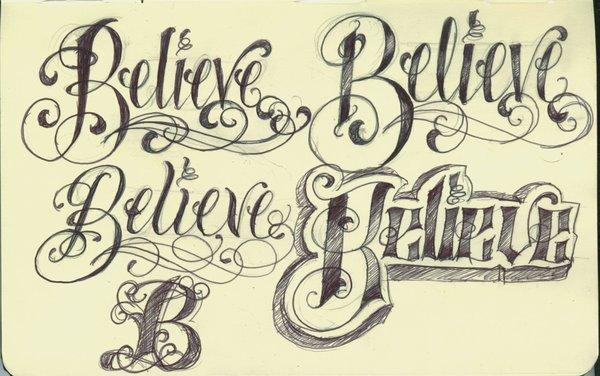kirschgru-en: Cool Tattoo Lettering Designs