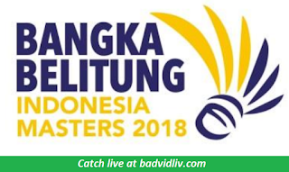 Indonesia Masters 2018 live streaming