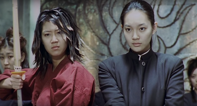 Shin Min Ah in k-movie Volcano High (2001), an action comedy in the martial arts genre