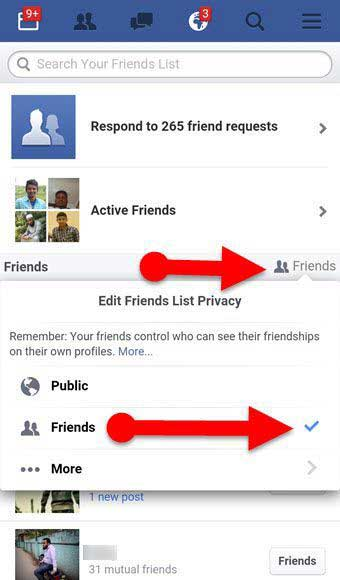 hie facebook friends list freely