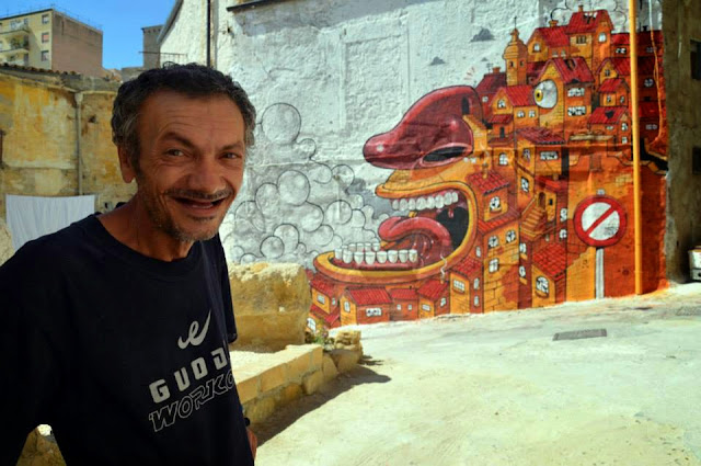 """The Scream Of Vallicaldi"" New Street Art Piece By Mr Thoms In Sicily. 2"