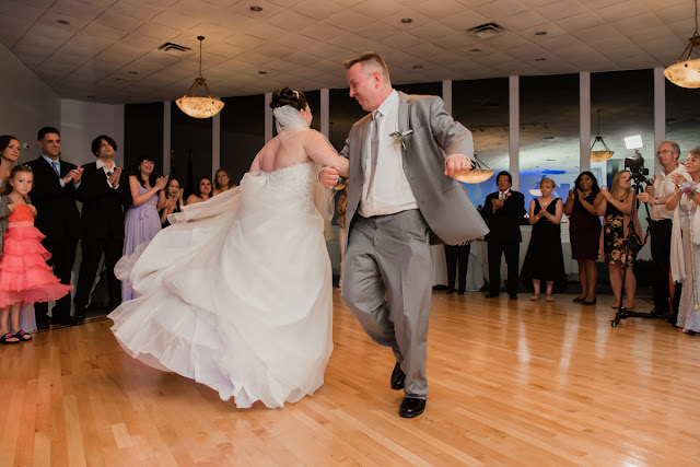 Couple enjoying fun moments on the dance floor