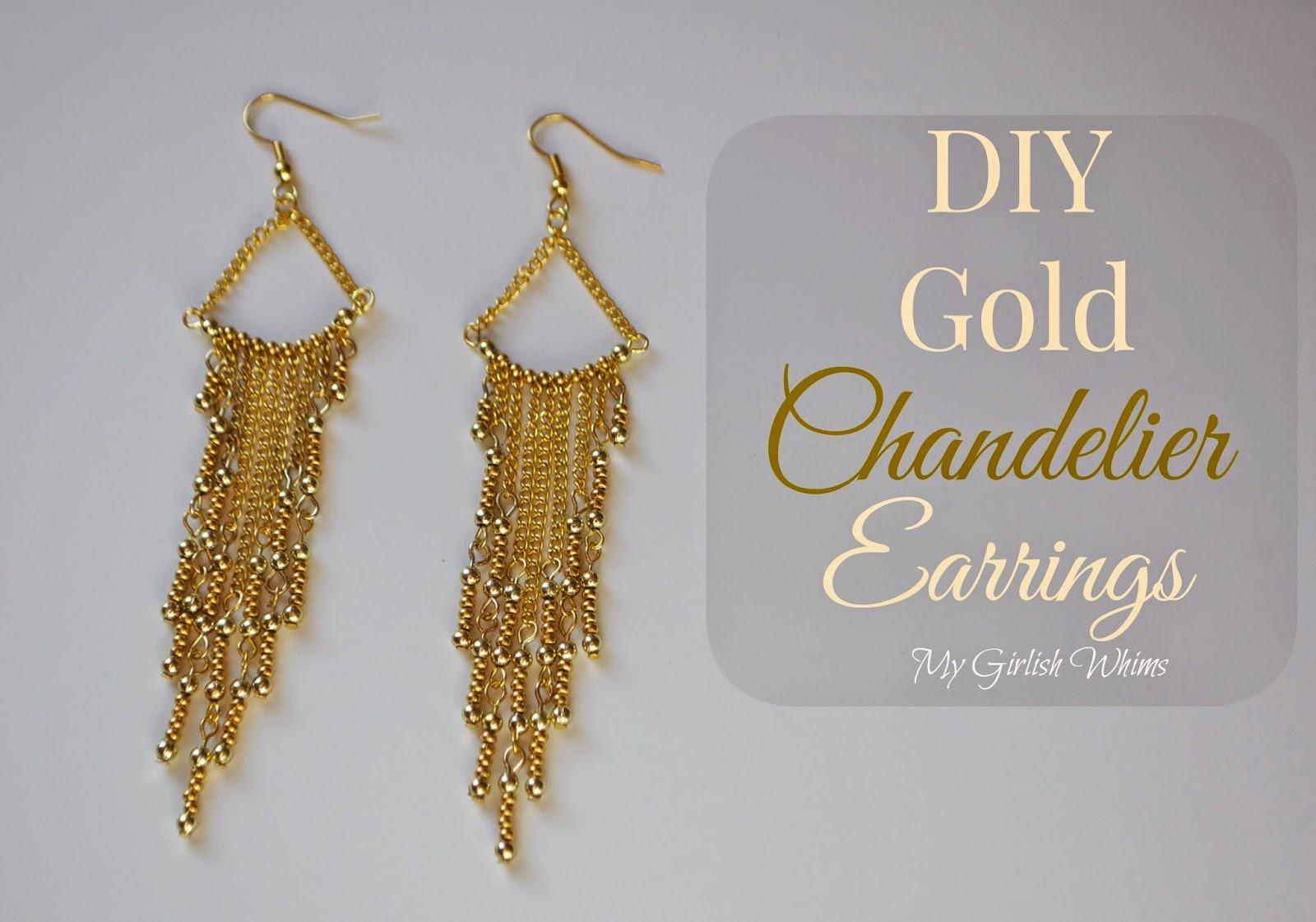 Diy Gold Chandelier Earrings My Ish Whims