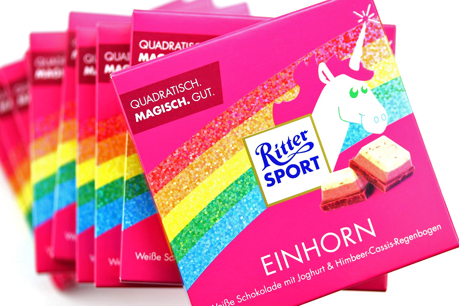 Einhorn Schokolade Ritter Sport