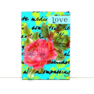 Love Black Modeling Paste ATC by Dana Tatar for Tando Creative