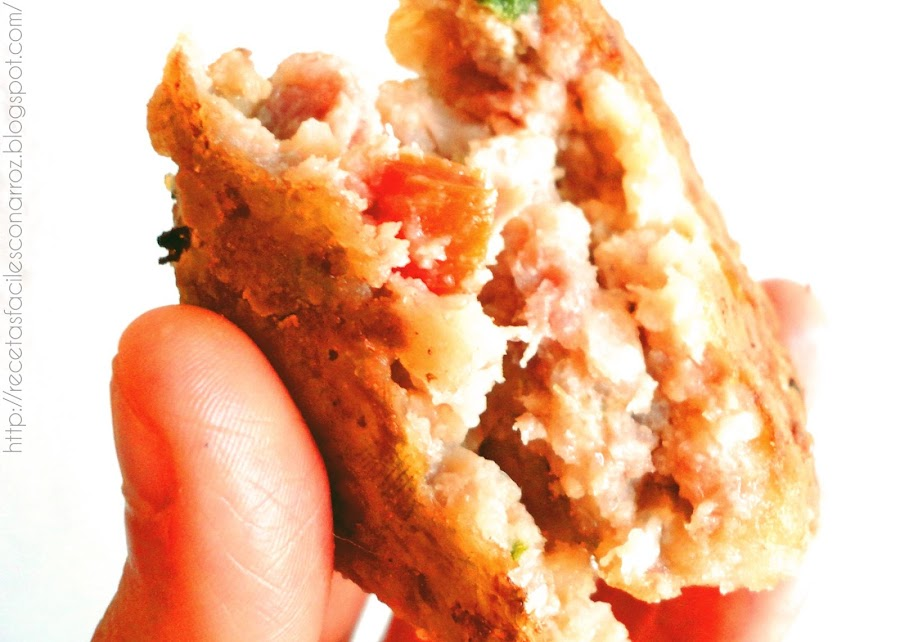 hamburguesas de carne economicas con arroz
