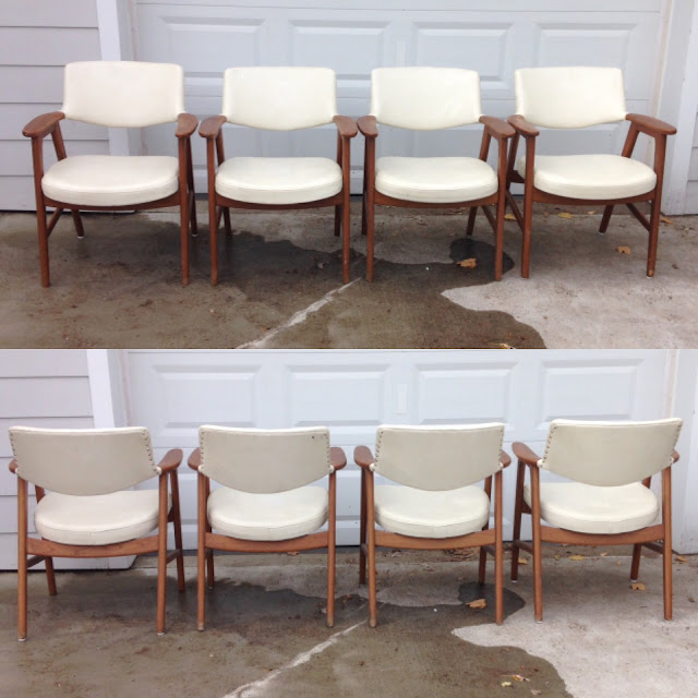 Vintage vinyl mid century chairs found on Craig's List