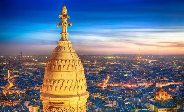 Vista da Basílica Sacré Coeur
