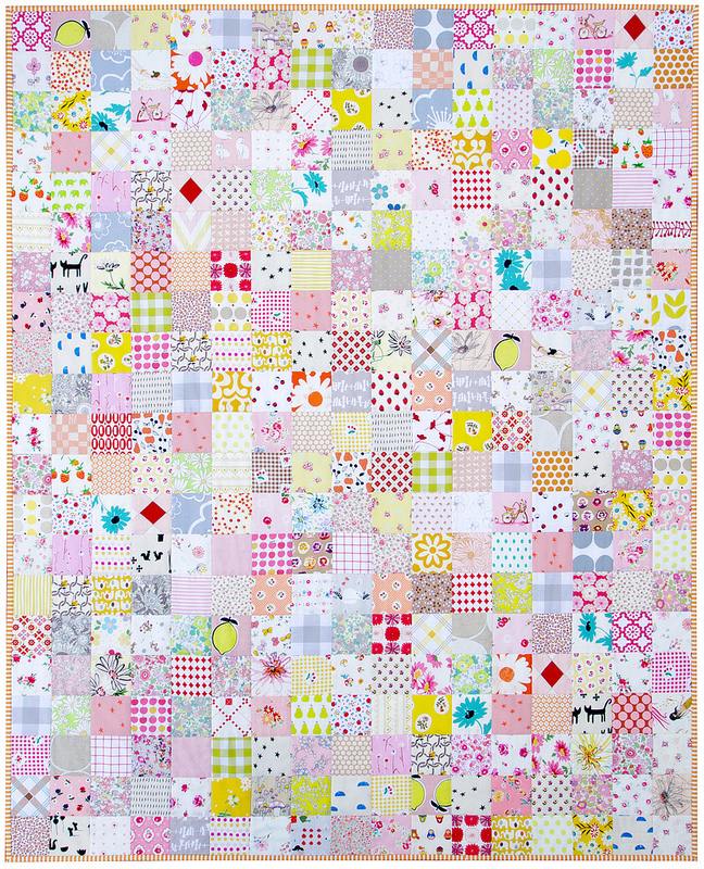 For the Love of Patchwork II - A Finished Quilt | Red Pepper Quilts 2016
