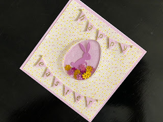 Hand made Easter shaker card with bunting