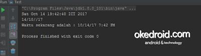 Output Hasil Format Waktu dan Tanggal Program Java