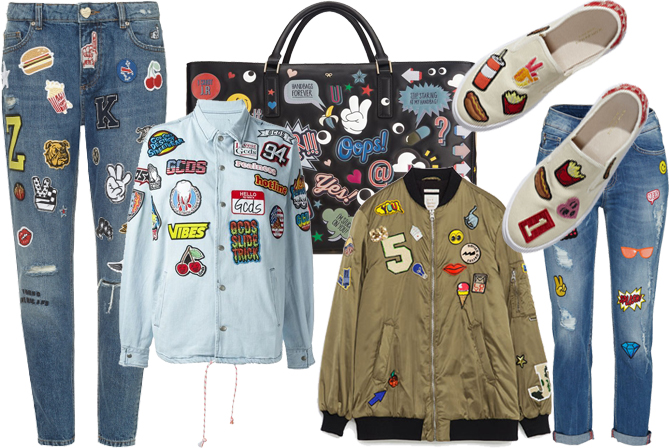 iron on patch clothes accessories spring/summer 2016.
