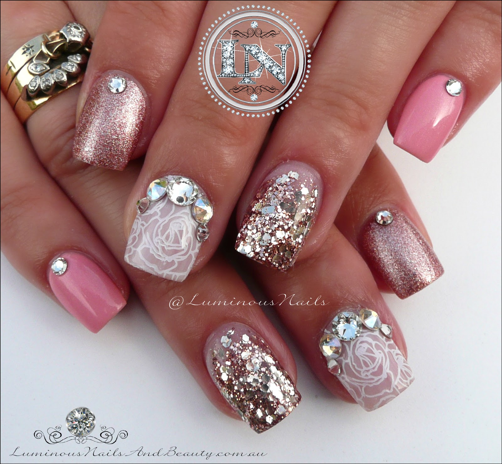 Red and silver acrylic nail designs furthermore pink black silver nail