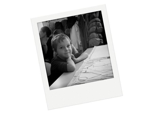 Polaroid in bianco e nero