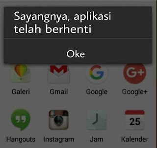Mengatasi Aplikasi Berhenti Di Android