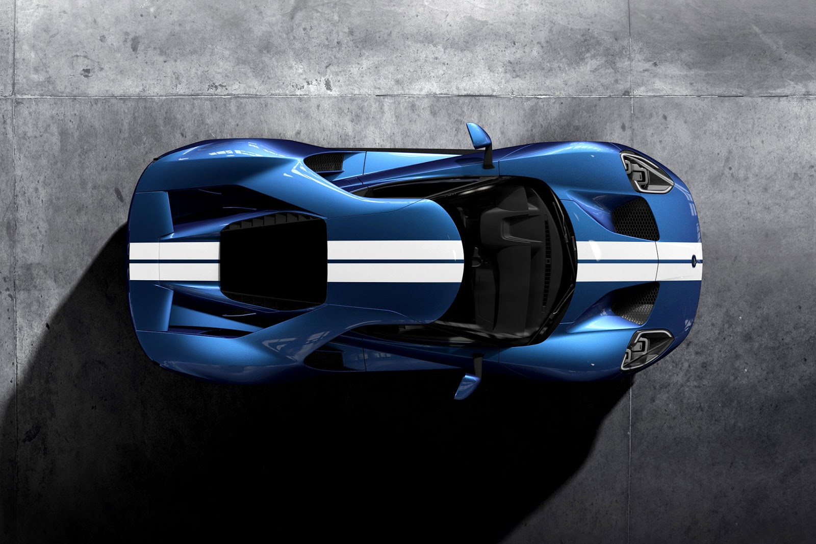 Ford Issued A Ford Gt In  With Bolder Exterior As Different From The Old Generation Looked At The Front Of The Body According To The Character Of Sport
