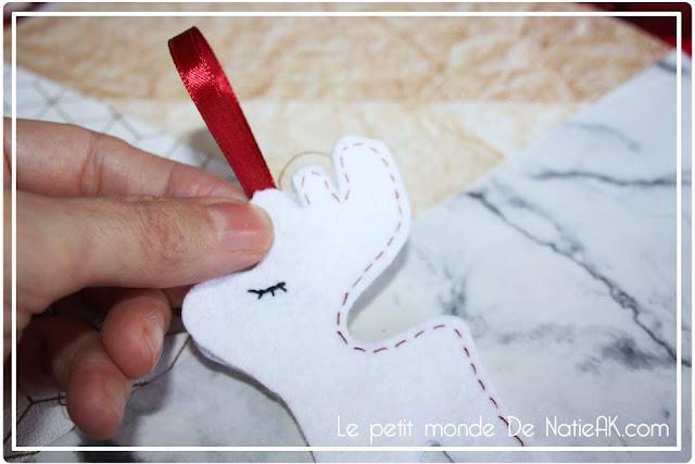 DIY : des décorations de Noël en feutrine : renne