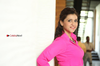 Actress Mannar Chopra in Pink Top and Blue Skirt at Rogue movie Interview  0232.JPG