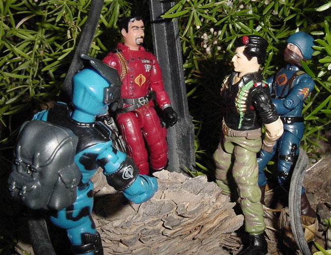 2003 Agent Faces Crimson Guard Disguise, Mail Away, 2004 Cobra Officer, 2003 Alley Viper, Funskool Flint