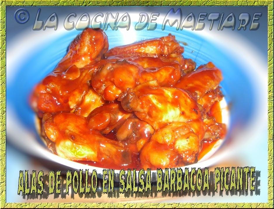 Alas de pollo en salsa barbacoa picante cocina y for Salsa barbacoa ingredientes