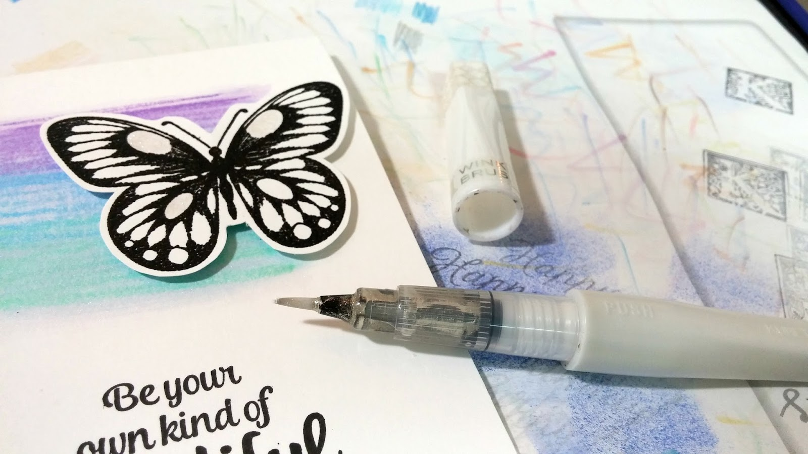 ScraPerfect: How to Make an Easy Embossed Butterfly