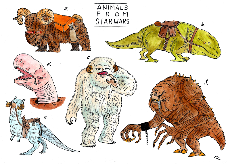 ANIMALS FROM STARWARS