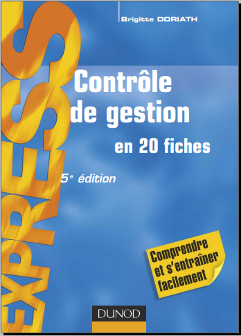 Livre : Contrôle de gestion en 20 fiches - Brigitte Doriath, PDF
