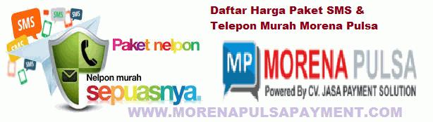 Harga Paket SMS & Telepon Murah Morena Pulsa