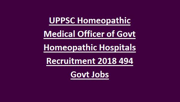 Uttar Pradesh UPPSC Homeopathic Medical Officer of