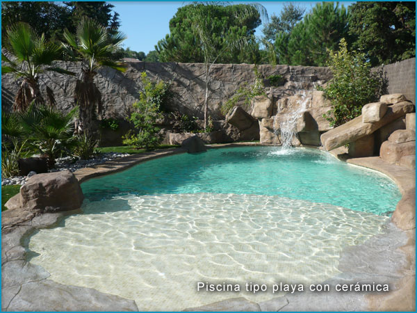 Con decoro piscinas de arena - Piscina tipo playa ...