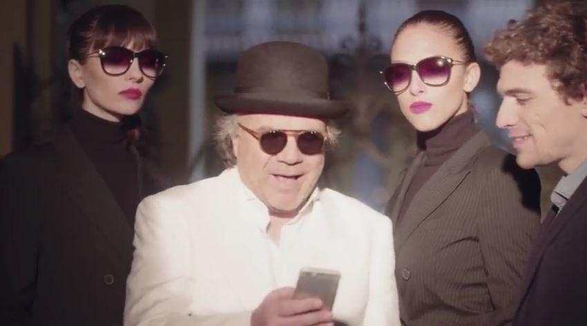 Modello TheFork pubblicità con Jerry Calà con Foto - Testimonial Spot Pubblicitario TheFork 2017