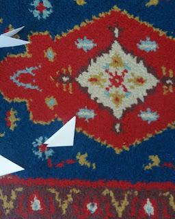 Nahaufnahme der Teppichmittte