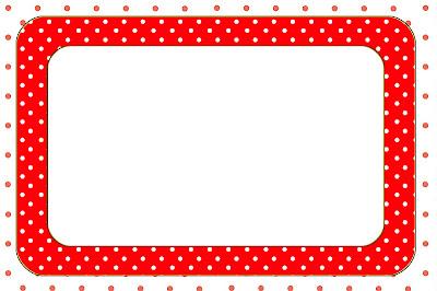 Vermelho E Branco Bolinhas Kit Completo Com Molduras Para Convites