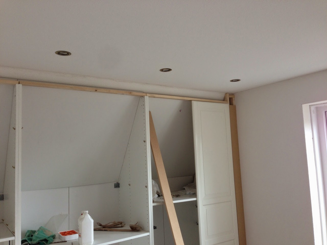 attic handle ideas - Pax Built in for sloping ceiling IKEA Hackers IKEA Hackers