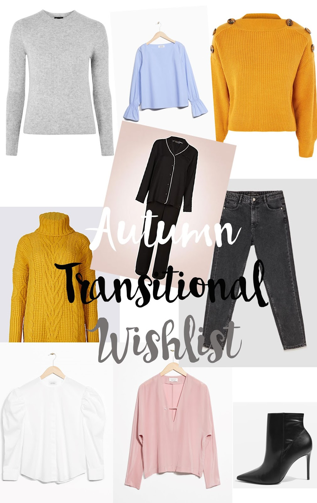 autumn transitional clothes wishlist