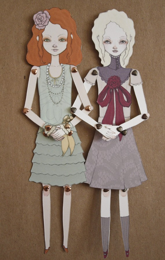 eliza and little mina paper dolls by inking cap